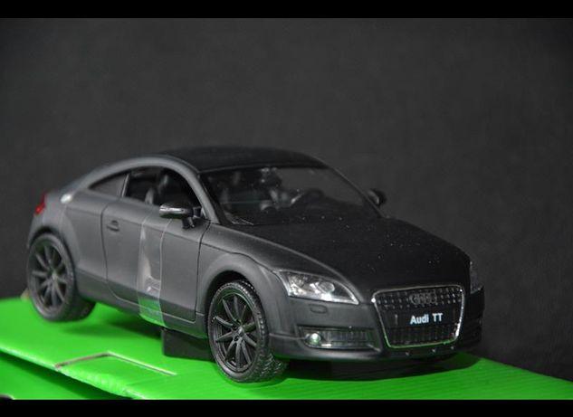 WELLY AUDI TT Coupe czarny mat 1:24 NOWY model kolekcjonerski UNIKAT