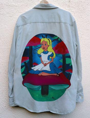 Camisa pintada à mão