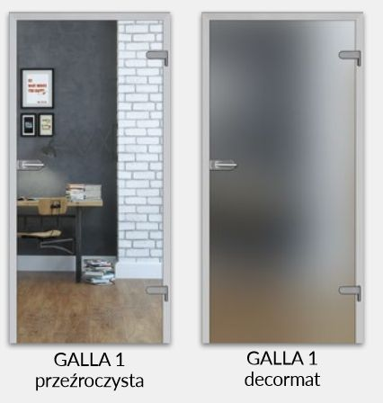 Drzwi szklane GALLA szkło hartowane 8MM PROMOCJA