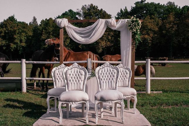 Krzesła ślubne / DYWAN biały lub czerwony / Klęcznik PROMOCJA LIPIEC