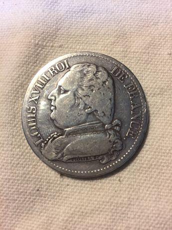 Moeda francesa de 1814 de Louis xvlll