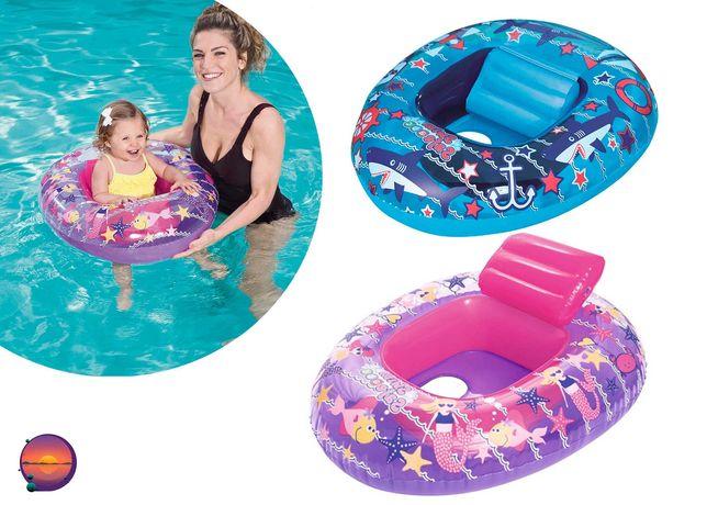 Надувной детский плот со спинкой Bestway 34107, круг для плавания