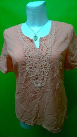 Bluzeczka bawełniana z haftem, 46-48