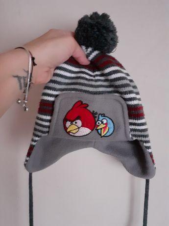 Zimowa ocieplana czapka dla chłopca uszatka Angry Birds 3-5 lat