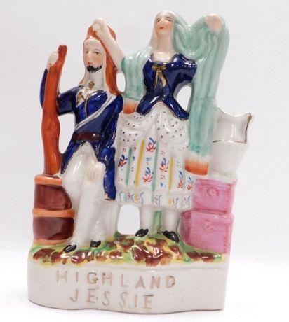 "Antiguidade Staffordshire ""Highland Jessie"" Militar"