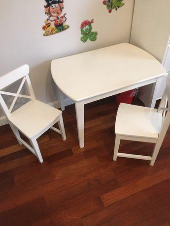 Stolik i dwa krzesełka sundvik ikea