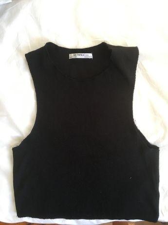 TOP Zara preto justo