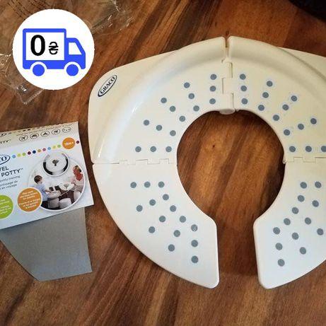 Детское складное мобильное сидение-накладка на унитаз Graco OKT