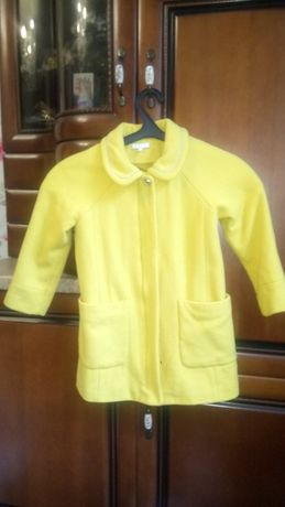 Демисезонное пальто 80% шерсть Chloe (Франция, Париж) для девочки 6-8