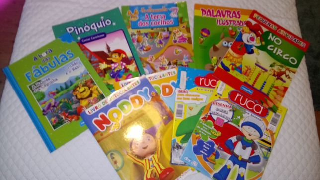 Livros actividades Noddy, Ruca e outros