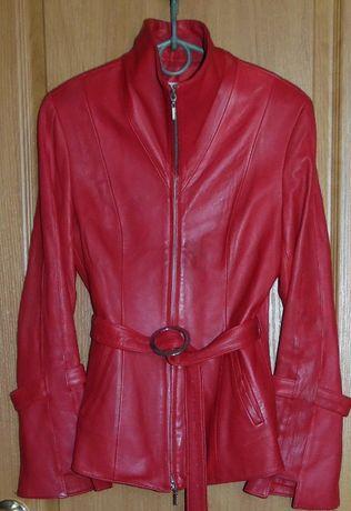 Куртка кожаная красная Акция 350