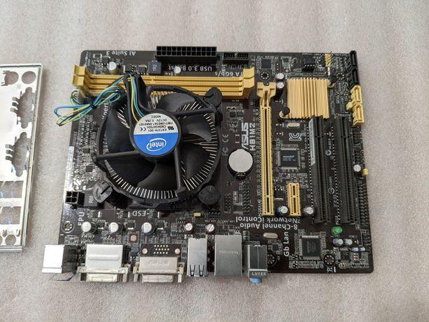 Комплект s1150 Asus H81M2 + G3220 материнская плата и процессор