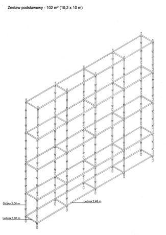 RUSZTOWANIE KLINOWE CHOINKOWE 100 m2 zestaw rusztowania z osprzętem