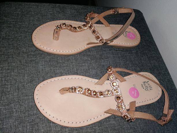 Sandałki Lelli Kelly roz. 38 skórzane.