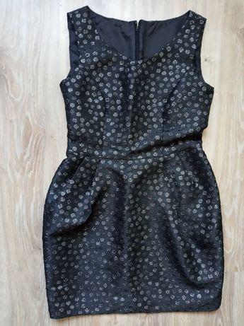 ANEX 40 sukienka czarno srebrna wizytowa