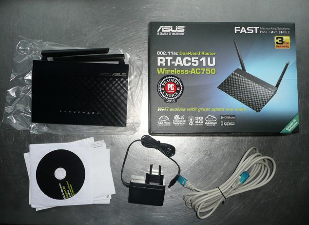 Router Asus RT-AC51U Wi-Fi AC750 USB 3G/4G DualBand 2.4GHz 5GHz LTE