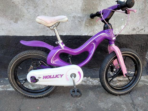Детский велосипед для девочки, Hollicy 16 дюймов, 5 - 8 лет
