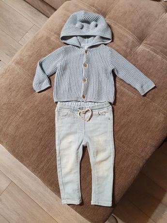 Кофточка Carters, джинсы Next, на девочку 6-9 месяцев