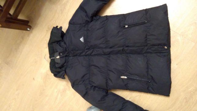 Пуховик зимний фирменный Adidas черный