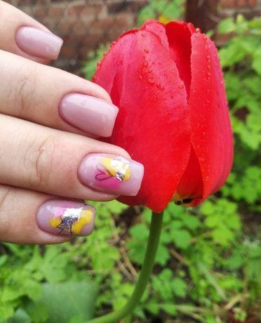 Маникюр, наращивание, коррекция нарощенных ногтей, покрытие гель лак