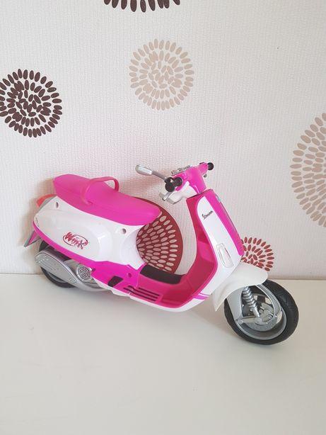 Мотоцикл скутер Winx для кукол Барби, Винкс, Братц