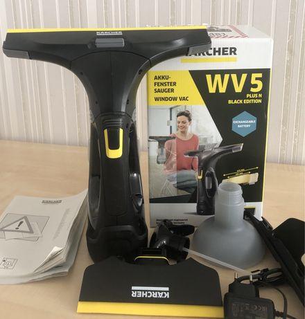 Моющий пылесос для окон Стеклоочиститель WV 5 Plus Black Edition