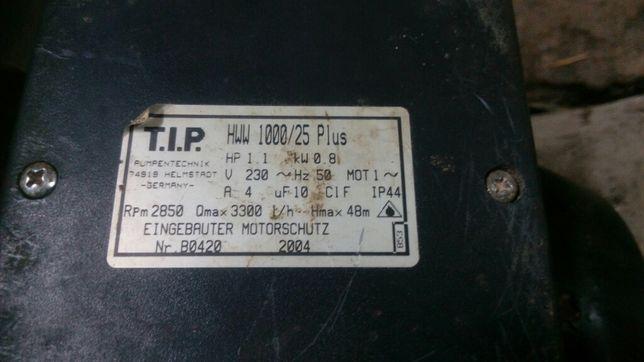 Насос TIP HWW 1000/25 Plus на запчастини.