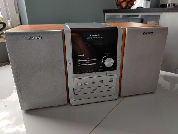 Miniwieża Wieża Panasonic SA-PM21 - AUX, MP3, radio, CD, magnetofon