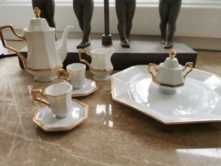 Porcelana, vintage, shabby chic, dzbanek, patera, filiźanki