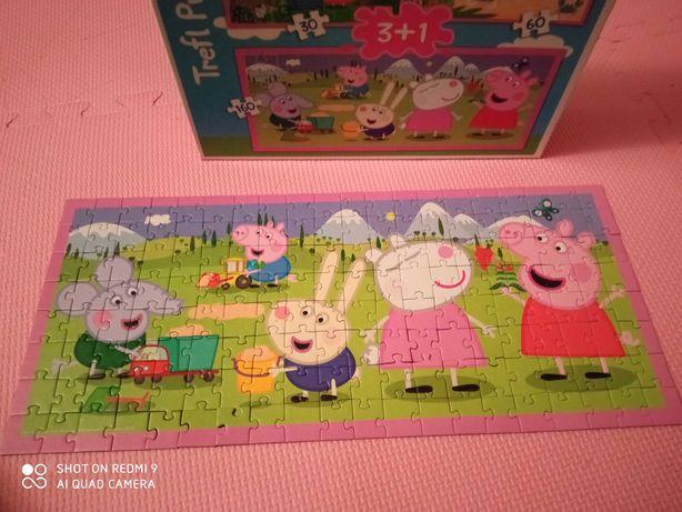 Puzzle świnką Peppa