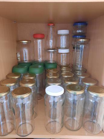 Vendo frascos de vidro