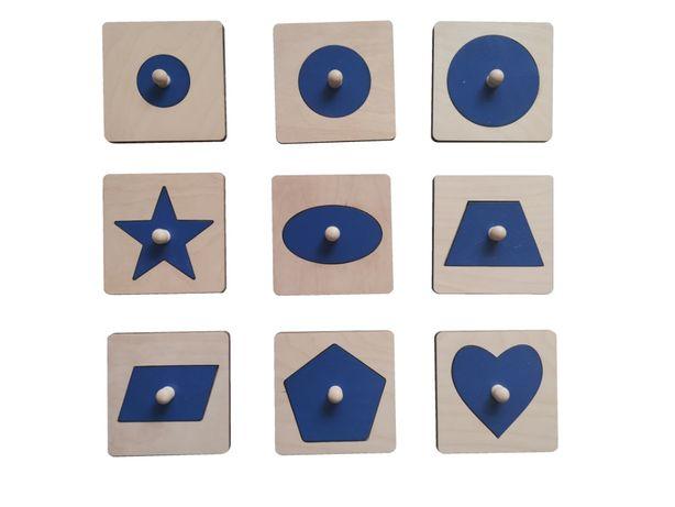Zestaw pojedynczych układanek 9 szt Montessori