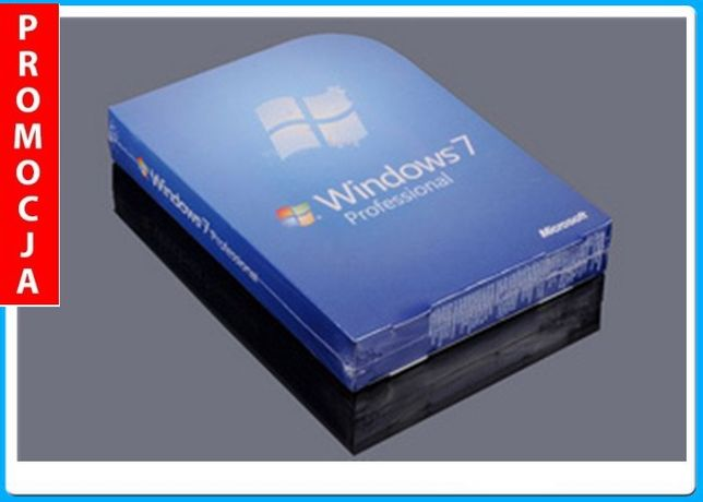 WINDOWS 7/10 Professional 32 lub 64bit SP1 PL COA+DVD!Superpromo!