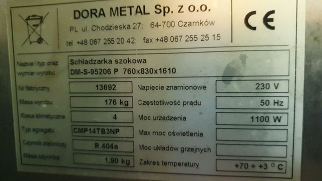 Schładzarka Szokowa DM-S 95206 P