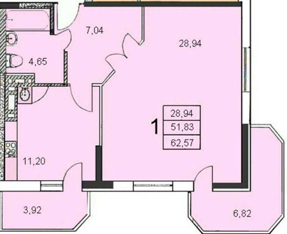 Двухкомнатная квартира на Королева! Дом сдан! 0% оформление!