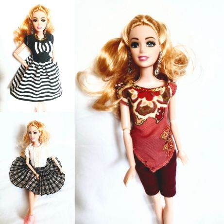 Zestaw ubranek 5 szt dla lalki Barbie Steffi handmade