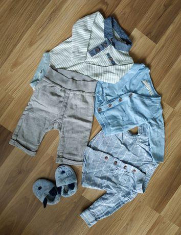 Piekny zestaw kardigan sweterek koszulobody koszula spodnie niechodki