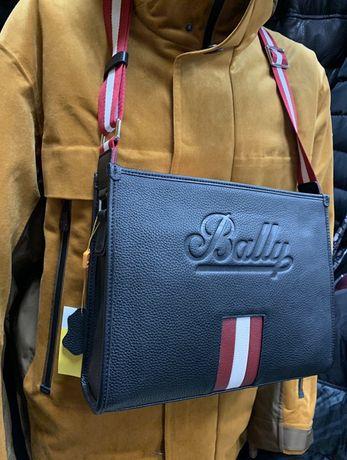 Продам шкіряну сумку на плече Bally/ чоловіча сумка / мужская сумка /