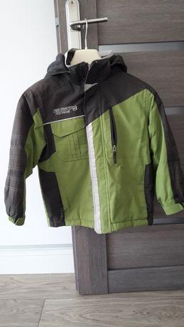 kurtka zielono szara na 134 cm dla chłopca