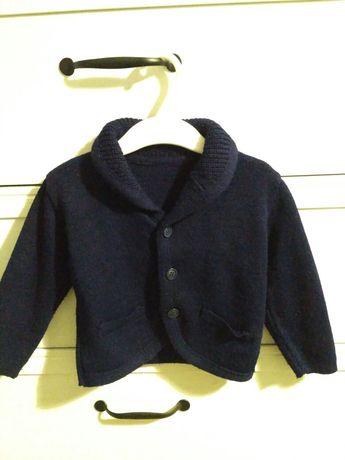 Sweter granatowy chłopiecy r. 86