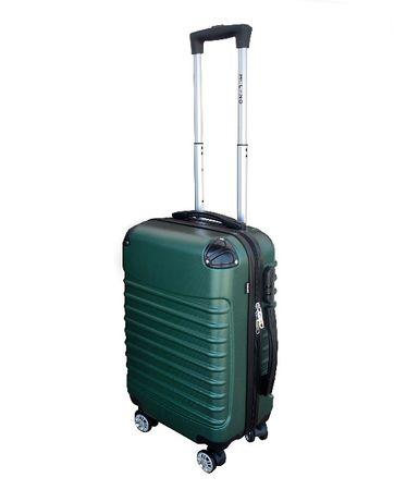 M1373 Kabinowa walizka podróżna M na kółkach ZIELONA bagaż podręczny