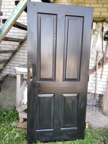 Двері дубові без замка