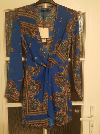 TUNIKA we wzory, sukienka VILA, r. 36, kolorowa, wzór Paisley, nowa