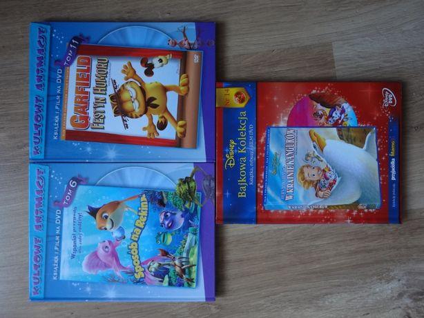 Kultowe animacje i Bajkowa kolekcja na DVD plus książki - 3 sztuki