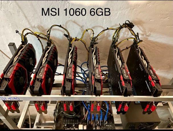 Koparka kryptowalut 6x MSI 1060 6 GB 125 Mh/s Bielsko-Biała