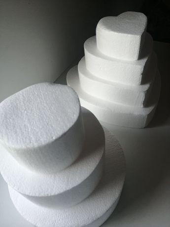 Tort styropianowy okrągły/tort w kształcie serca/ półkule styropianowe