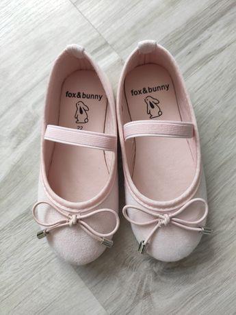Buty dziewczęce Różowe baletki, baleriny dziewczęce