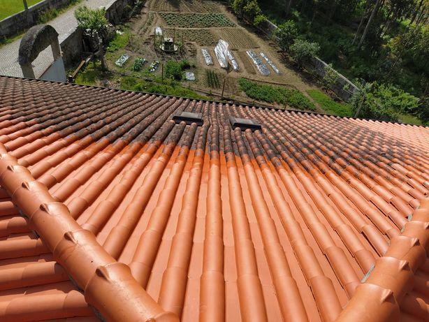 Lavagem e impermeabilização telhados, fachadas, muros, pisos