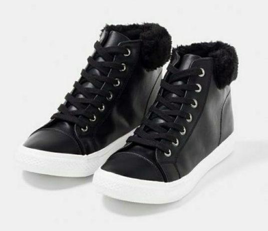 Высокие кросовки /демисезонные ботинки TEX (Испания). Стелька 24 см.