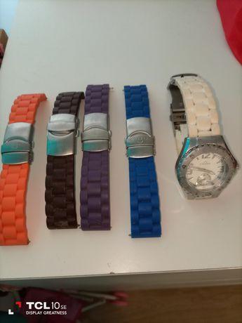 Relógio eletta com 4 braceletes